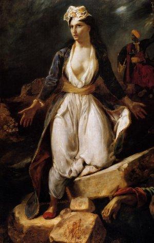 Delacroix, La Grèce sur les ruines des Missolonghi, 1826. Musée des beaux-arts de Bordeaux