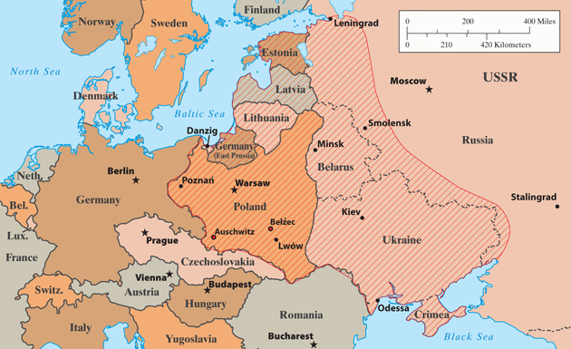 Mike KingEurope in 1933. The shaded areas are what Timothy Snyder calls the bloodlands. Anne Applebaum writes, 'Between 1933 and 1945, fourteen million people died there, not in combat but because someone made a deliberate decision to murder them.'