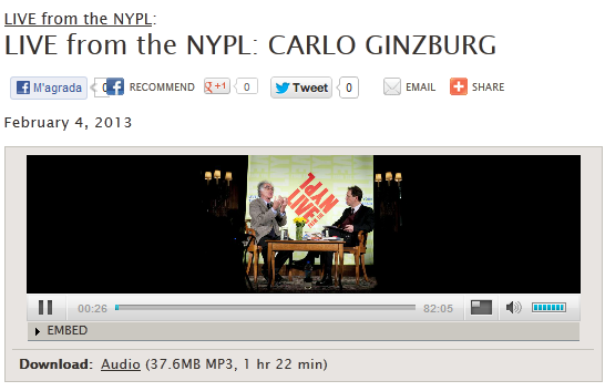 ginzburg at nypl
