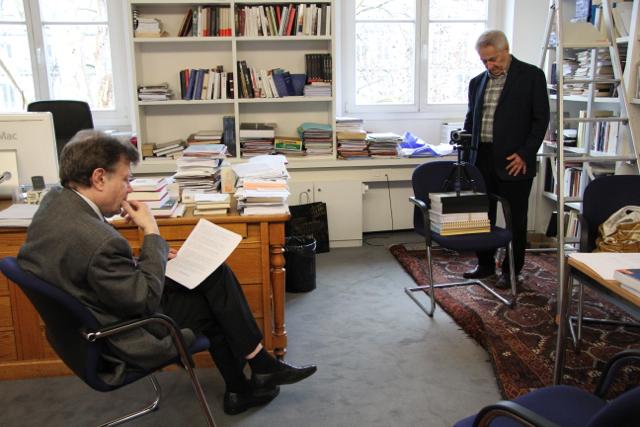 Roger Chartier, Thierry Gaudin, Collège de France, 10 de enero de 2013